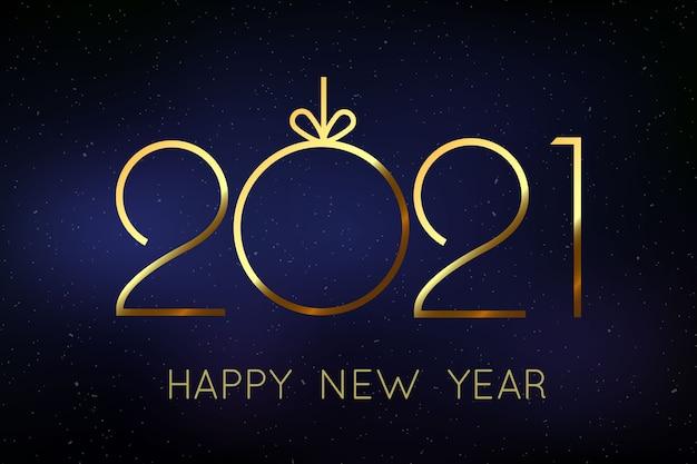 Tło nowy rok 2021 z złote numery.