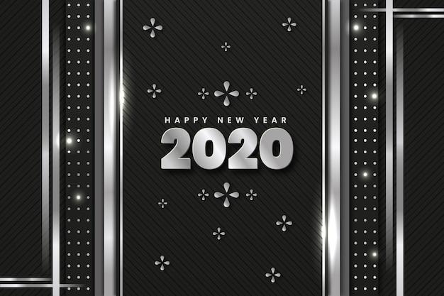 Tło nowy rok srebrny