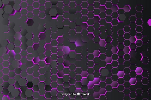 Tło o strukturze plastra miodu fioletowy