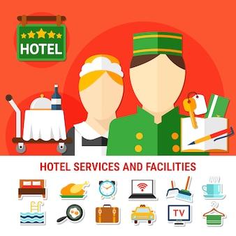 Tło obiektów hotelowych
