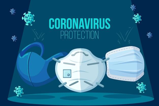 Tło ochrony przed koronawirusem