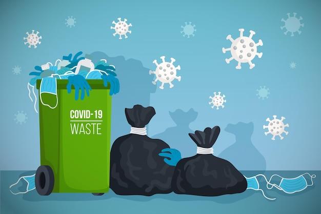 Tło odpadów koronawirusa