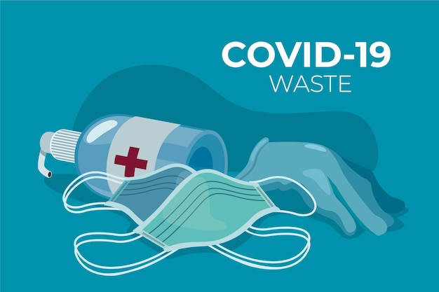 Tło odpadów medycznych obiektów ochrony