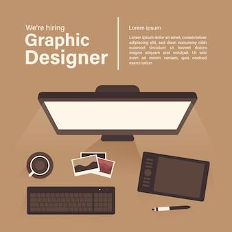 Tło oferty pracy dla projektanta graficznego
