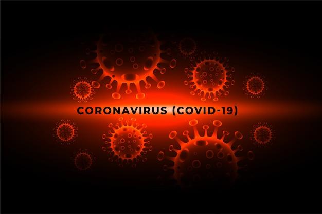 Tło ogniska zakażenia wirusem pandemii koronawirusa covid-19