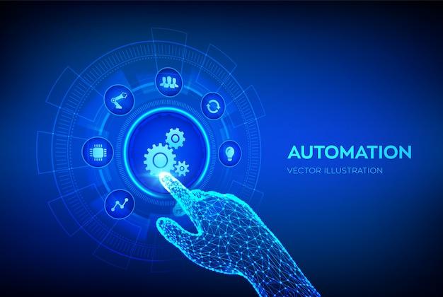 Tło oprogramowania do automatyzacji