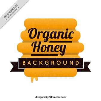 Tło organicznych miodu z plastra miodu