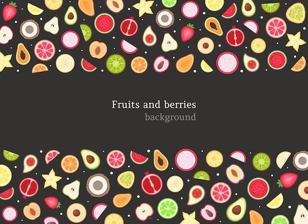 Tło owoce i jagody