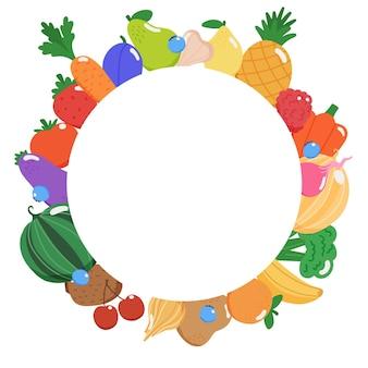 Tło owoce i warzywa