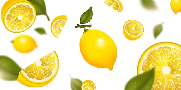 Tło owoców cytryny
