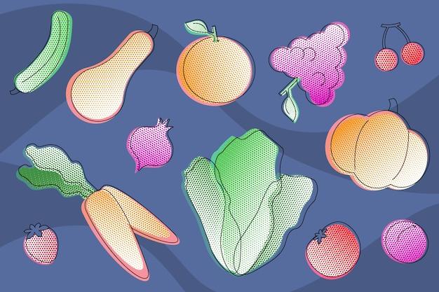 Tło owoców i warzyw