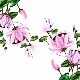 Tło ozdobne kwiaty louts