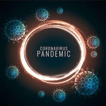 Tło pandemii koronawirusa z pływającymi komórkami wirusa