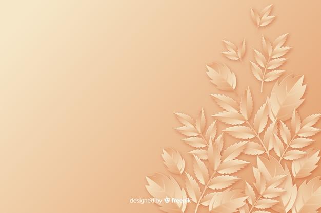 Tło papieru styl monochromatyczne liście