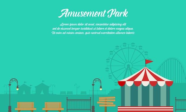 Tło park rozrywki z ornamentem