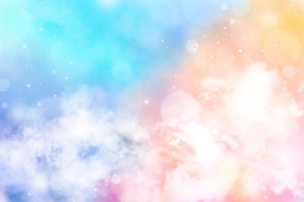 Tło pastelowe niebo w stylu gradientu