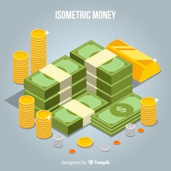 Tło pieniądze izometryczny