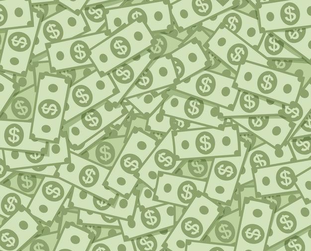 Tło pieniędzy dolara wielki stos papierowej gotówki tło duży stos banknotów banknotów milionów dolarów