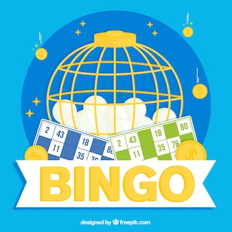 Tło piłek bingo