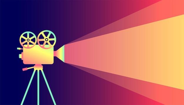 Tło plakatu filmowego festiwalu filmowego