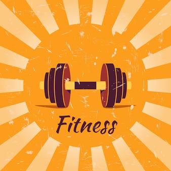 Tło plakatu rocznika fitness
