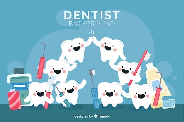 Tło płaskie dentysta