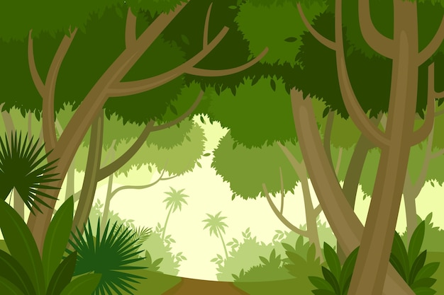Tło płaskie dżungli