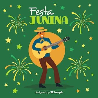 Tło płaskie festa junina