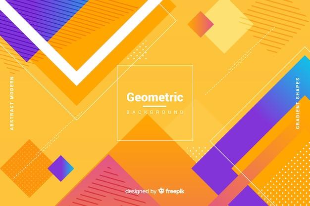 Tło płaskie geometryczne kształty gradientu