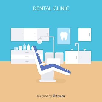 Tło płaskie kliniki stomatologicznej