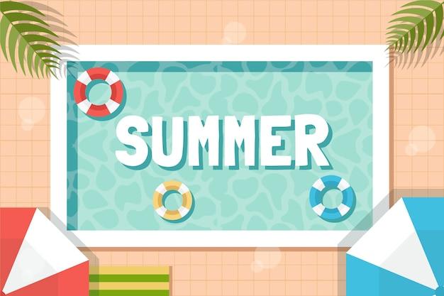 Tło płaskie lato