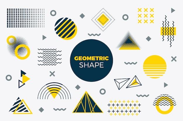 Tło płaskie modele geometryczne