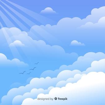 Tło płaskie niebo
