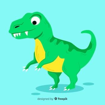 Tło płaskie t rex
