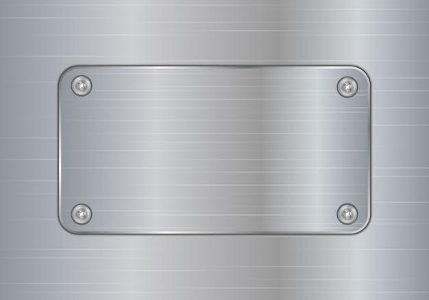 Tło płytki ze szczotkowanego srebrnego aluminium.
