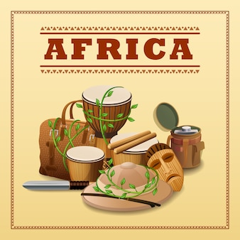 Tło podróży afrykańskich