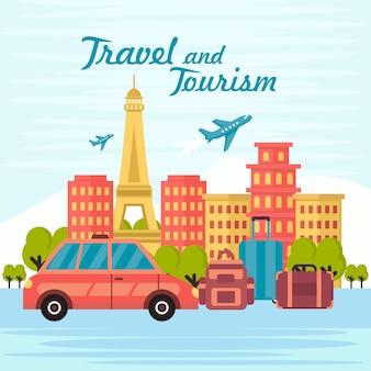 Tło podróży i turystyki