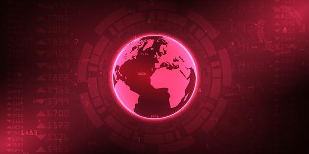Tło połączenia z internetem świata