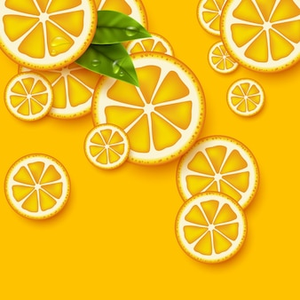 Tło pomarańczowe owoce.