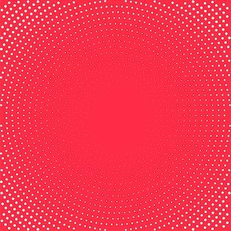 Tło pop-artu. białe kropki na czerwonym tle. tło półtonów. ilustracja.