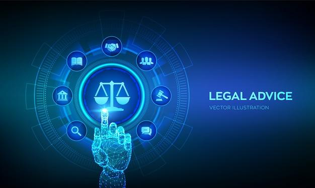 Tło porady prawnej