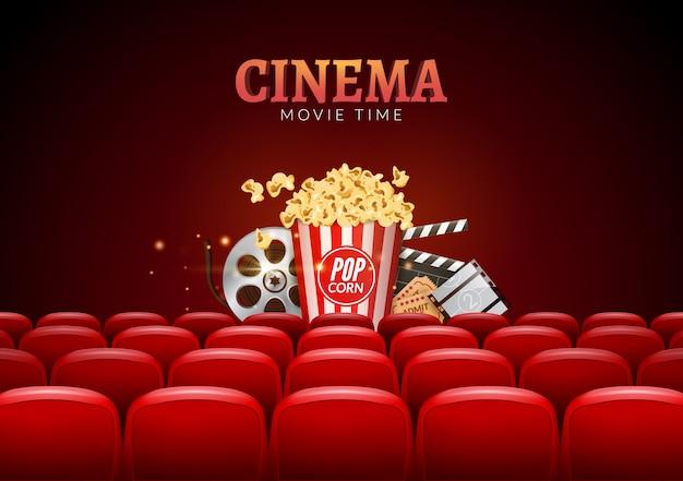 Tło premiery kina filmowego