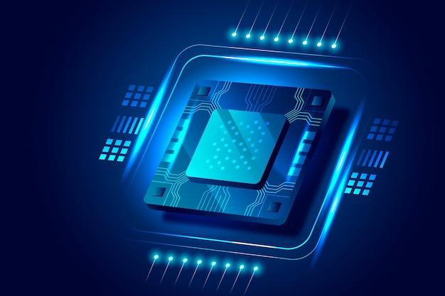 Tło procesora mikroczipa