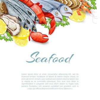 Tło produktów z owoców morza