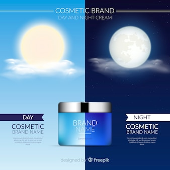Tło produktu kosmetycznego