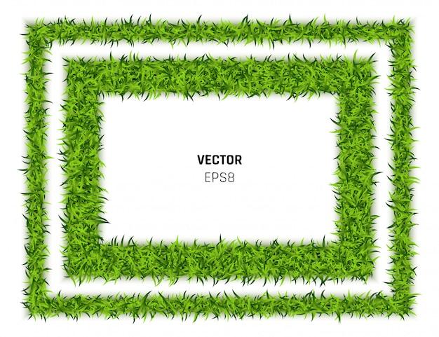 Tło prostokąt zielona trawa