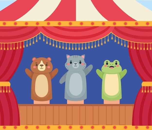 Tło przedstawienia lalek teatralnych