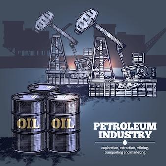 Tło przemysłu naftowego
