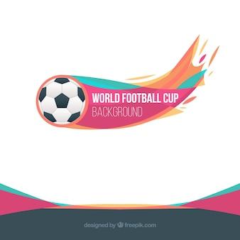 Tło puchar świata piłki nożnej z piłką
