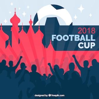 Tło puchar świata piłki nożnej z publicznością